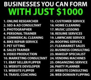 Business Ideas $1000